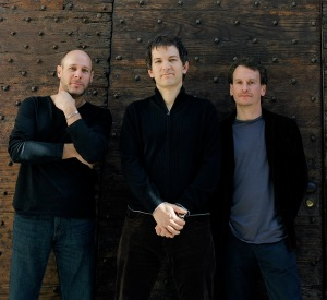 A new idea for a band photo: a WOODEN WALL. Brilliant!!
